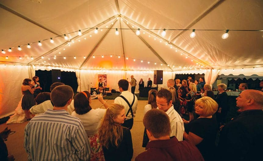 heating a wedding tent - how to throw a warm and successfull wedding party