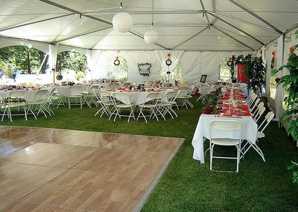 for heating a wedding tent - tent walls are very important