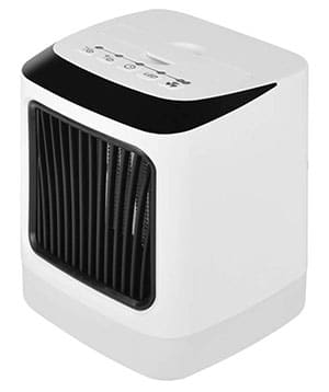 this space heater has a bult-in humidifier, but it's quite small