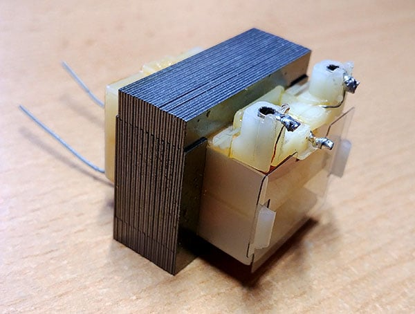 how a transformer in a space heater looks like