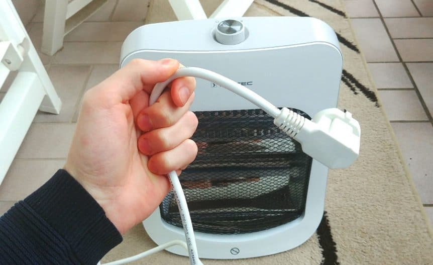 space heater with long cord