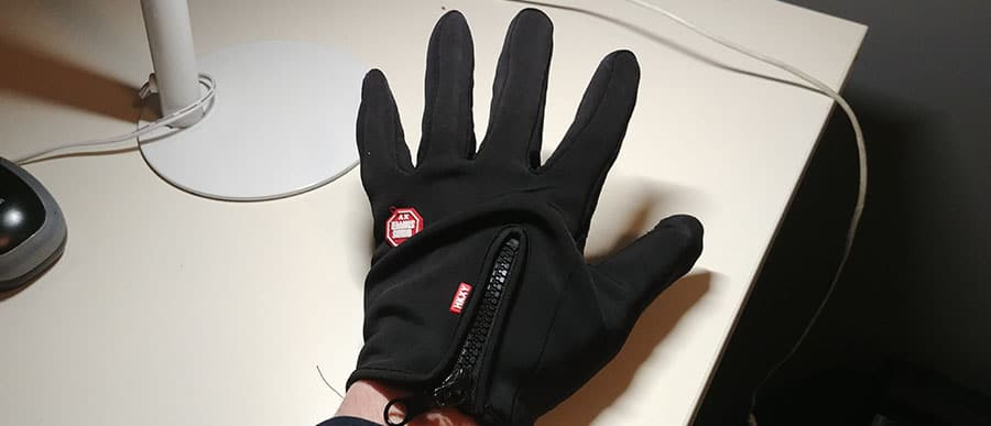 wear gloves - otherwise it's too cold to workout in your garage
