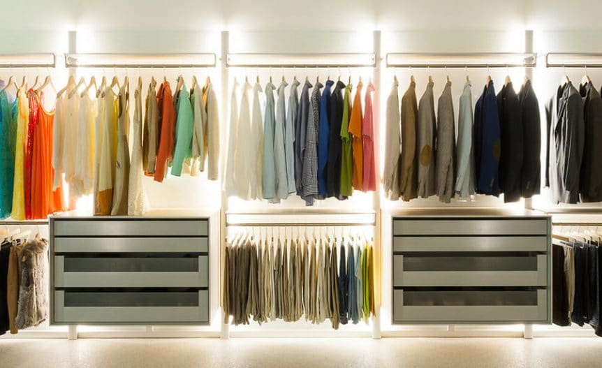 how to heat a walk-in closet