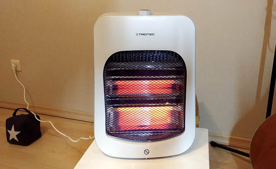 infrared vs oil heater: infrared has higher heating speed