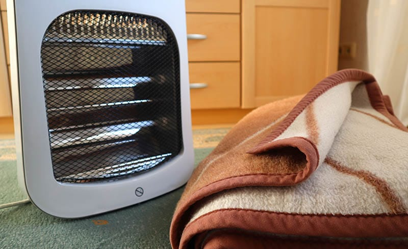 space heater vs electric blanket